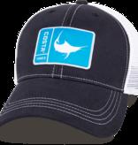 Costa Del Mar Original Patch Marlin Hat, Navy/White