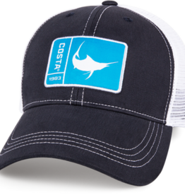 Costa Del Mar Original Patch Marlin Hat, Navy/White