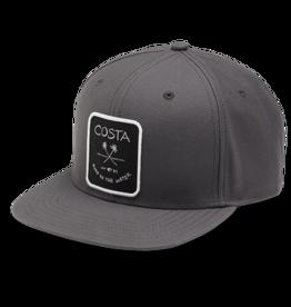 Costa Del Mar Palms Twill Flat Brim Hat, Black