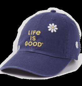 Life is Good Chill Cap, Daisy LIG Stack, Darkest Blue