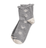 Life is Good W's Icon Rolled Anklet Socks, Heather Gray