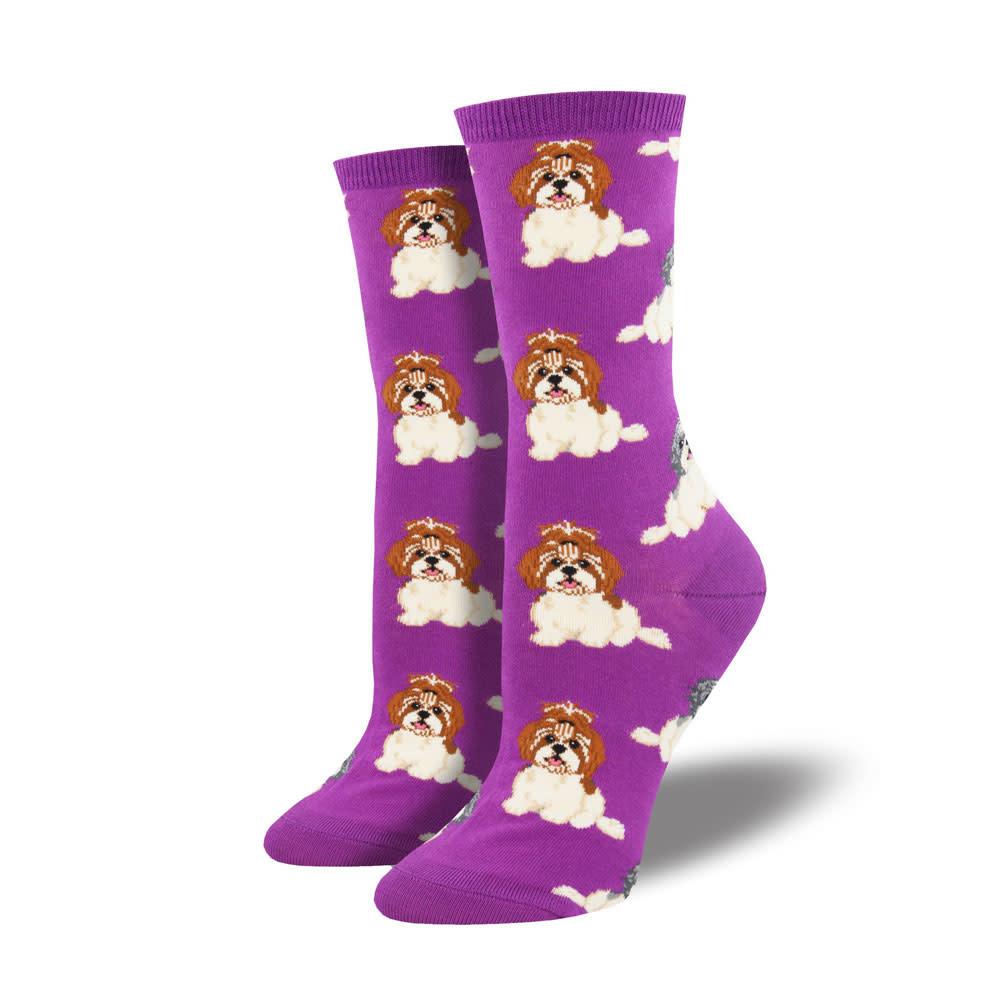Socksmith W's I Shih Tzu Not, Purple