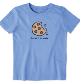 Life is Good Toddler Vintage Crusher,  Smart Cookie, Carolina Blue