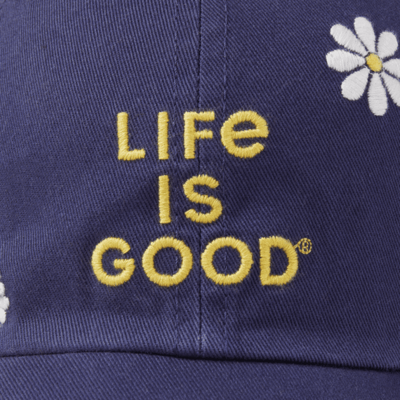 Life is Good Chill Cap, Daisy LIG Stack, Darkest Blue