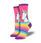 Socksmith W's Rainbow Hair Don't Care, Sky Blue