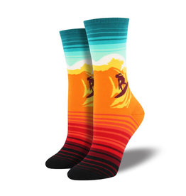 Socksmith W's Catch a Wave, Orange