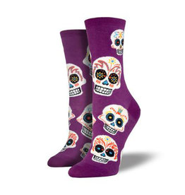 Socksmith W's Big Muertos Skull, Royal Purple