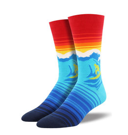 Socksmith M's Catch a Wave, Blue