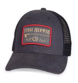 Fish Hippie Roll Cast Trucker, Navy
