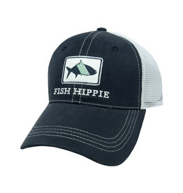Fish Hippie FH Classic Trucker Hat, Navy/White Mesh