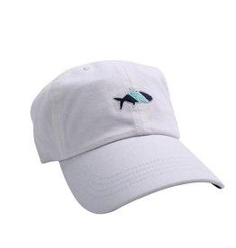 Fish Hippie FH Logo Sport Cap, White