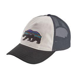 Patagonia W's Fitz Roy Bear Layback Trucker Hat, White w/Black