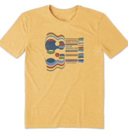 Life is Good M's Cool Tee, Music Is What Color Sounds Like, Baja Yellow