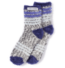 Life is Good Feathersoft Sock Stripes, Heather Gray