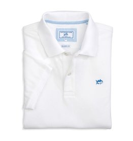 Southern Tide Skipjack Performance Pique Polo, Classic White