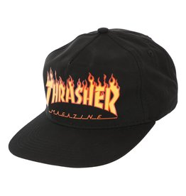 Eastern Skate Supply Thrasher Flame Logo Hat, Black