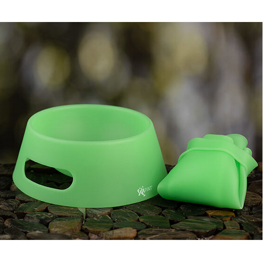 Silipint Dog Bowl, Glow in the Dark