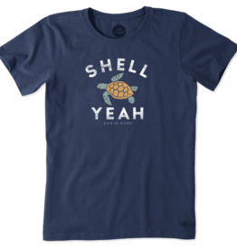 Life is Good W's Crusher Tee, Shell Yeah, Darkest Blue