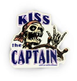 Jay Design Inc. Kiss the Captain Sticker