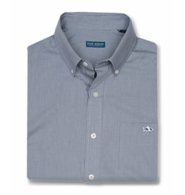 Fish Hippie Gillcreek Mini Check Shirt, Passage Blue