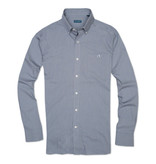 Fish Hippie Gillcreek Mini Check Shirt, Passage Blue