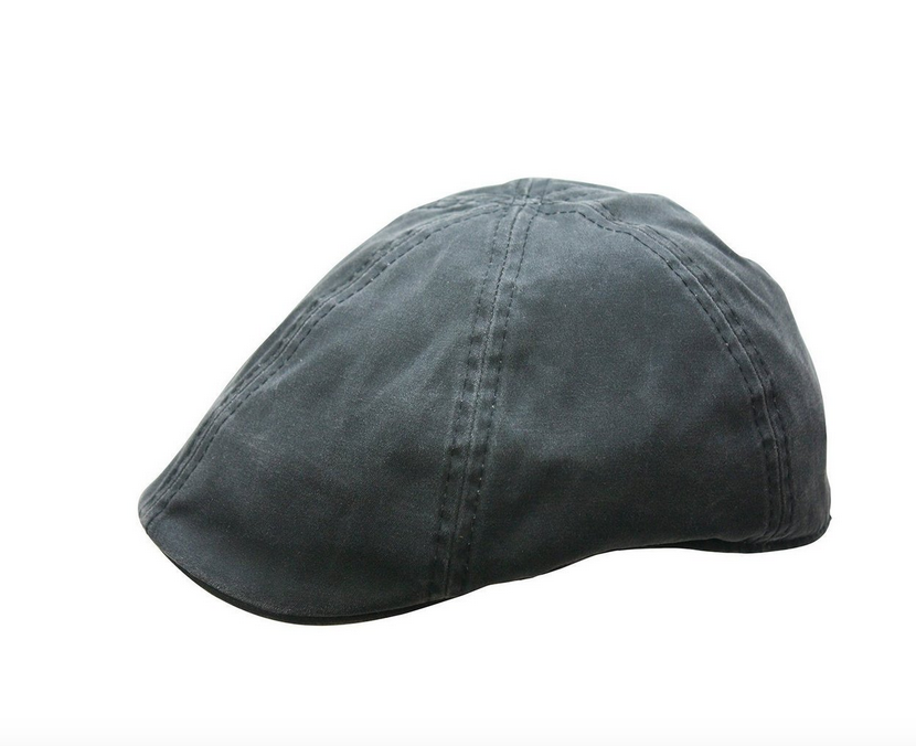BC Hats Distressed Cotton Ivy Newsboy, Black