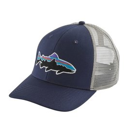 Patagonia Fitz Roy Trout Trucker Hat, Classic Navy w/Drifter Grey