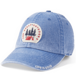 Life is Good Great Outdoor Patch, Sunworn Chill Cap, Vintage Blue