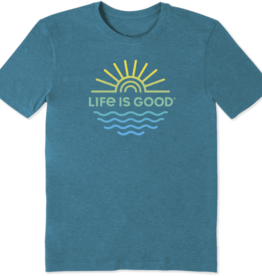 Life is Good M's Cool Tee, Sun & Sea, Seaport Blue