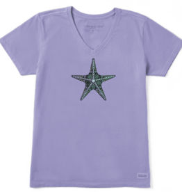 Life is Good W's Crusher Vee, Primal Starfish, Moonstone Purple