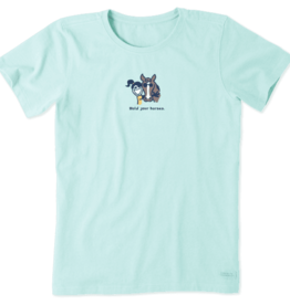 Life is Good W's Vintage Crusher, Hold Your Horses, Bermuda Blue