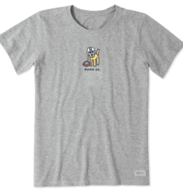 Life is Good W's Vintage Crusher, Game on Rocket, Heather Grey