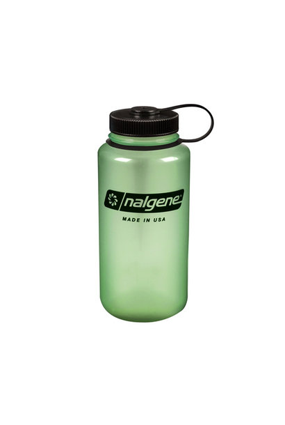 Nalgene Wide Mouth 1 Qt, Glows Green