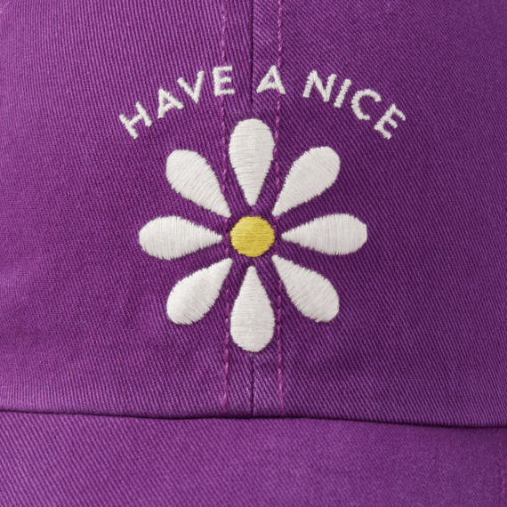 Life is Good Kids Chill Cap, Have a Nice Daisy, Happy Plum