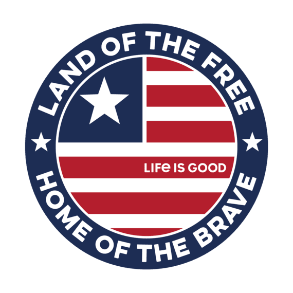 Life is Good Land of the Free, Small Decal