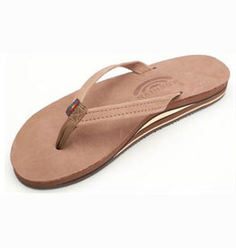 Rainbow W's Dark Brown Premier, Double Layer, Thin Strap