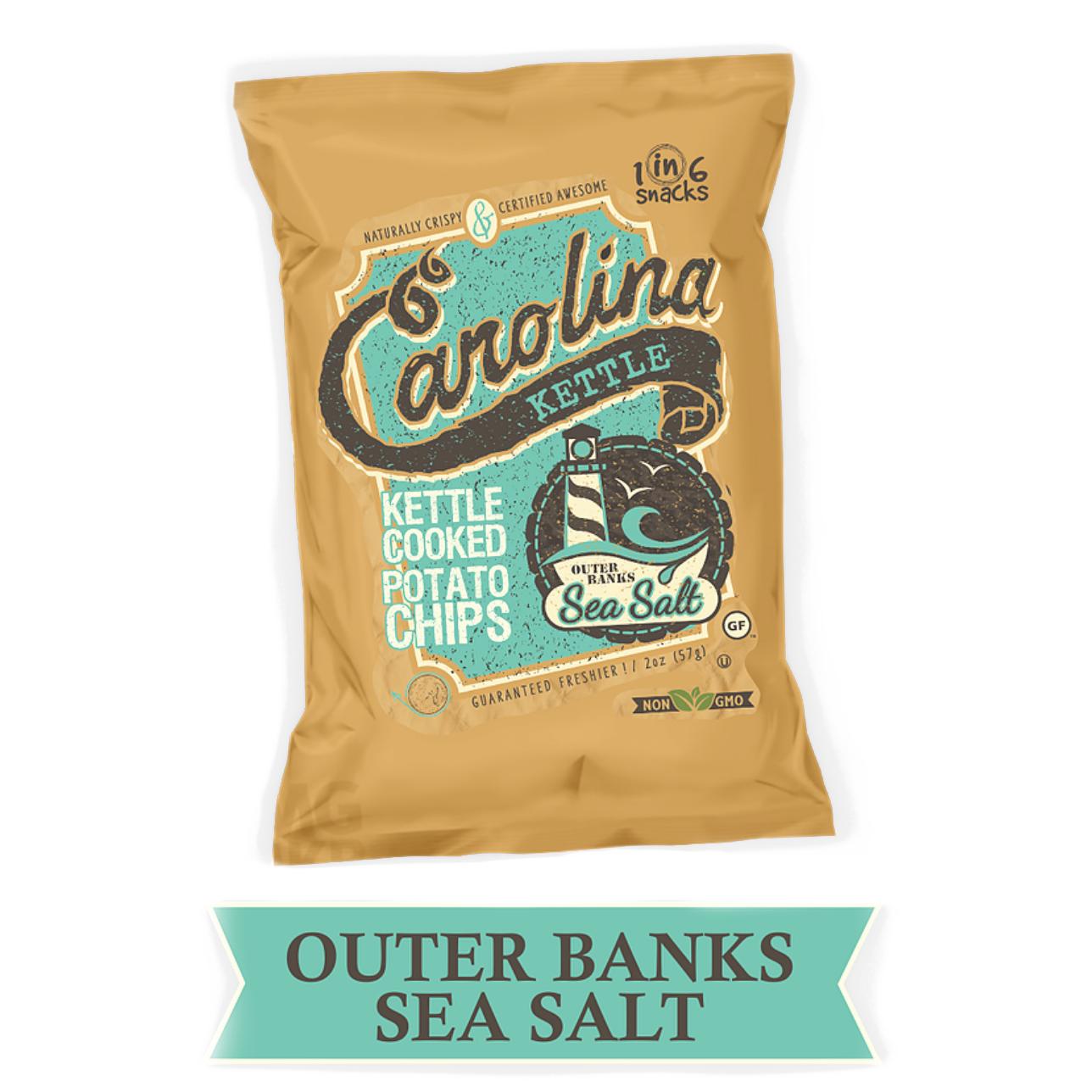 1 in 6 Snacks Outer Banks Sea Salt Potato Chips, 2oz