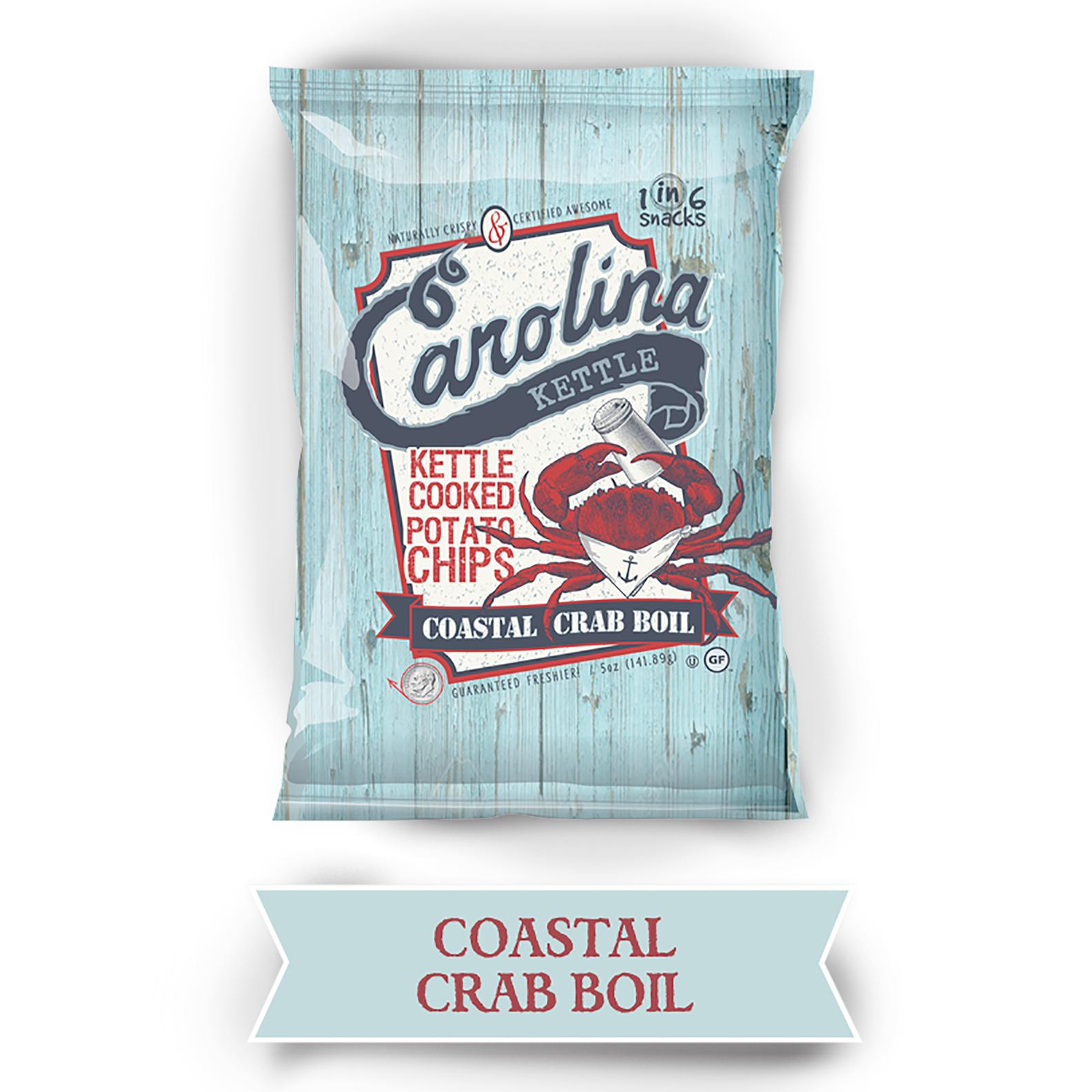 1 in 6 Snacks Coastal Crab Boil Potato Chips, 2oz