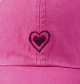 Life is Good Chill Cap, Heart Outline, Fiesta Pink