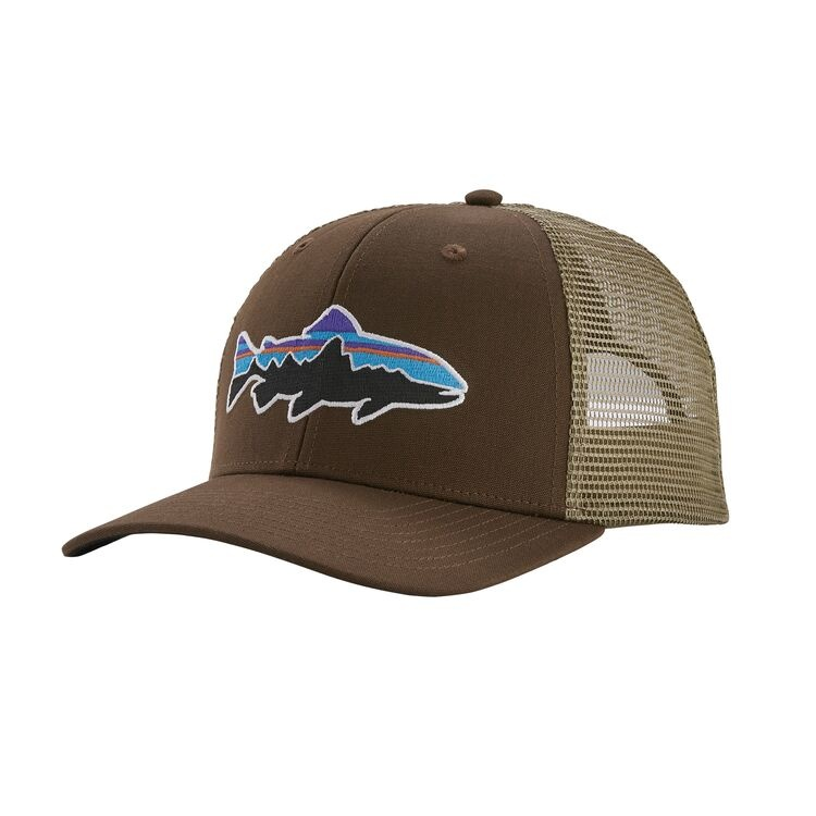 Patagonia Fitz Roy Trout Trucker Hat, Bristle Brown