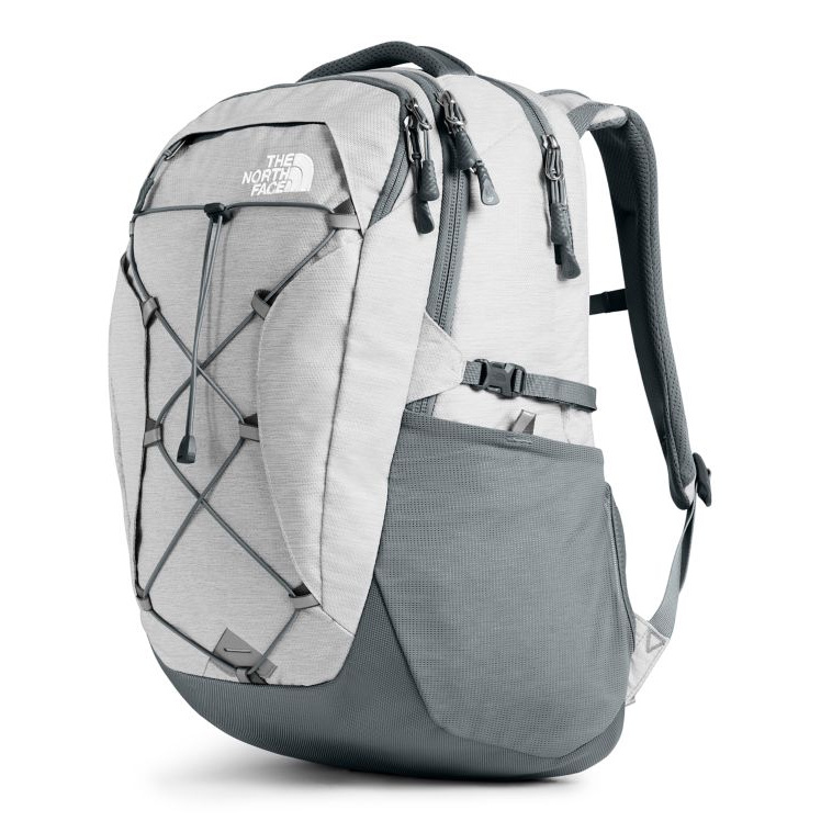 The North Face W's Borealis Pack, TNF White Metallic Melange/Mid Grey