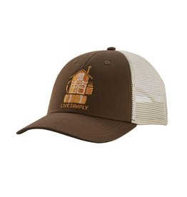 Patagonia Live Simply Home LoPro Trucker Hat, Bristle Brown