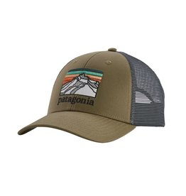 Patagonia Line Logo Ridge LoPro Trucker Hat, Sage Khaki