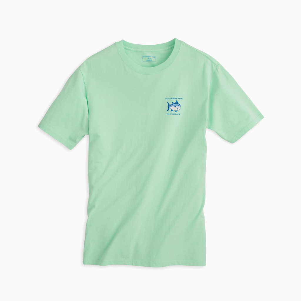 Southern Tide M's Short Sleeve Original Skipjack Tee, Offshore Green