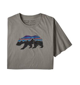 Patagonia M's Fitz Roy Bear Organic T-Shirt, Feather Grey