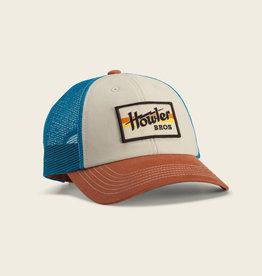 Howler Brothers Electric Stripe Standard Hat, Stone/Mid Blue