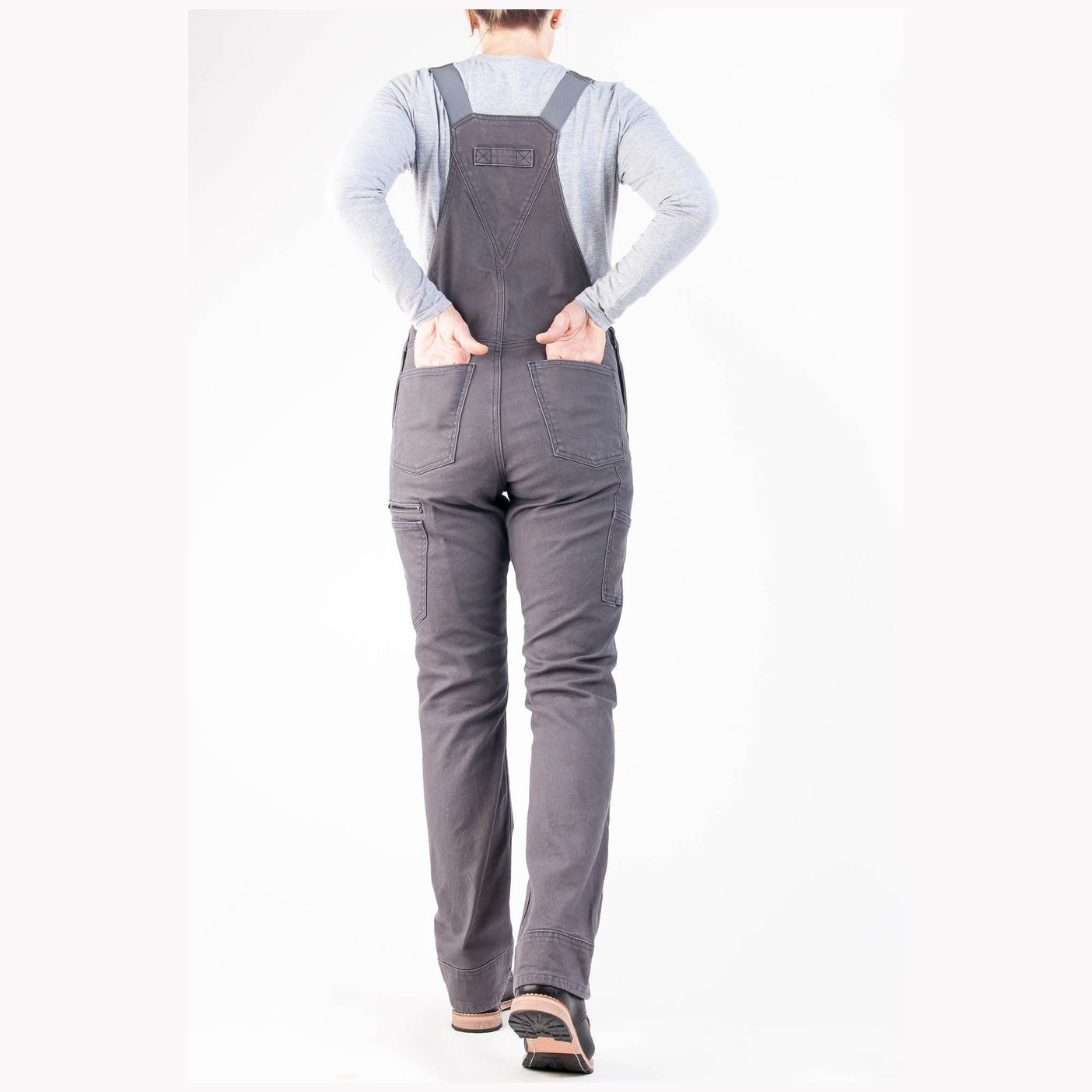 Dovetail Workwear W's Freshley Overall, Dark Grey Canvas