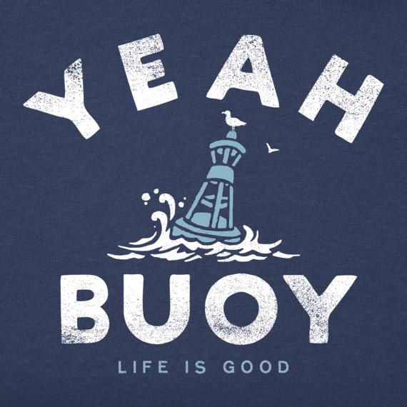 Life is Good M's Crusher Tee, Yeah Buoy, Darkest Blue