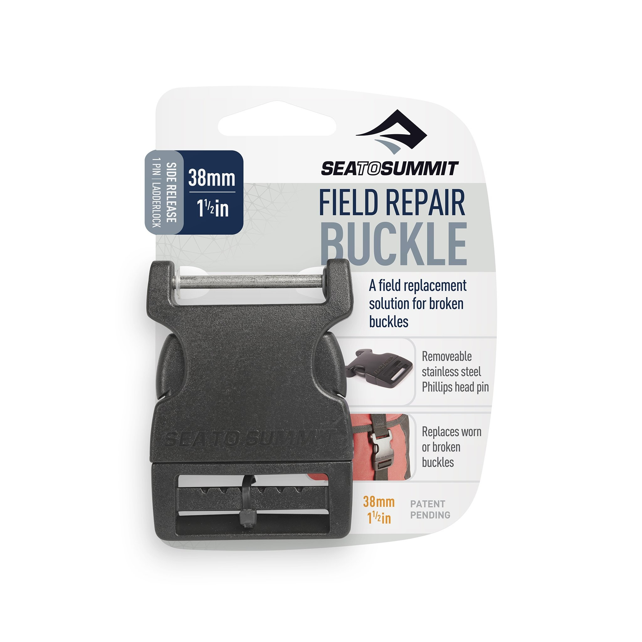 "Sea to Summit Field Repair Buckle 38mm / 1 1/2"" Side Release 1 Pin"