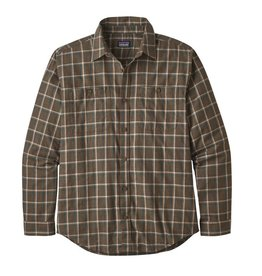 Patagonia M's Long Sleeve Pima Cotton Shirt, Ridgeline: Logwood Brown